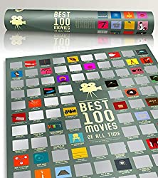 100 movie scratch off poster top