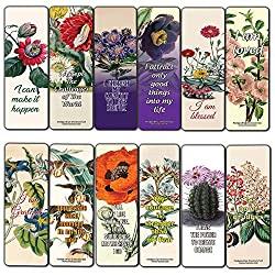 12 pack flower bookmarks