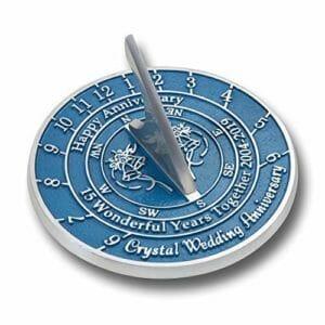 15th anniversary sundial
