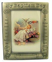 baptism picture frame