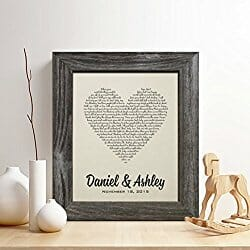 personalized cotton anniversary gift