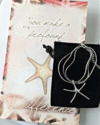 starfish silver necklace
