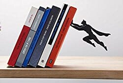 superhero bookshelf end