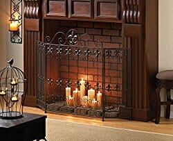fleur de lys fireplace ornament