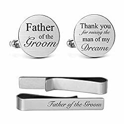 Father of the groom engraved cufflinks