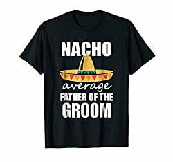Wedding tshirt for fathers of the groom