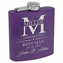 Personalized wedding father of the groom flask