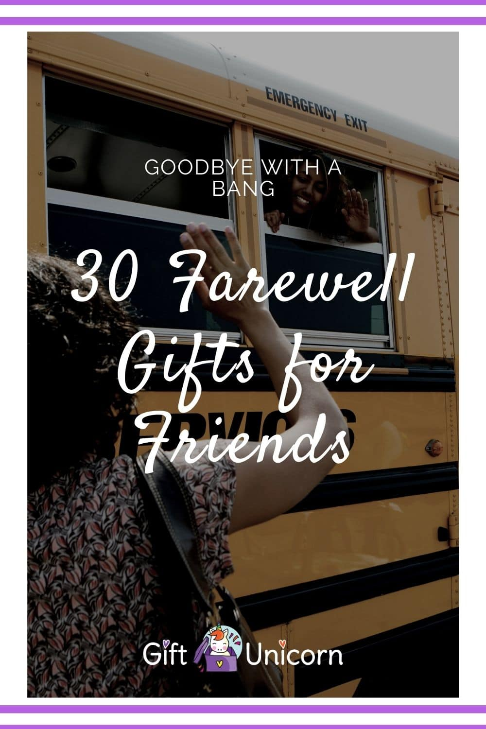 30 Farewell gifts for friends pin image