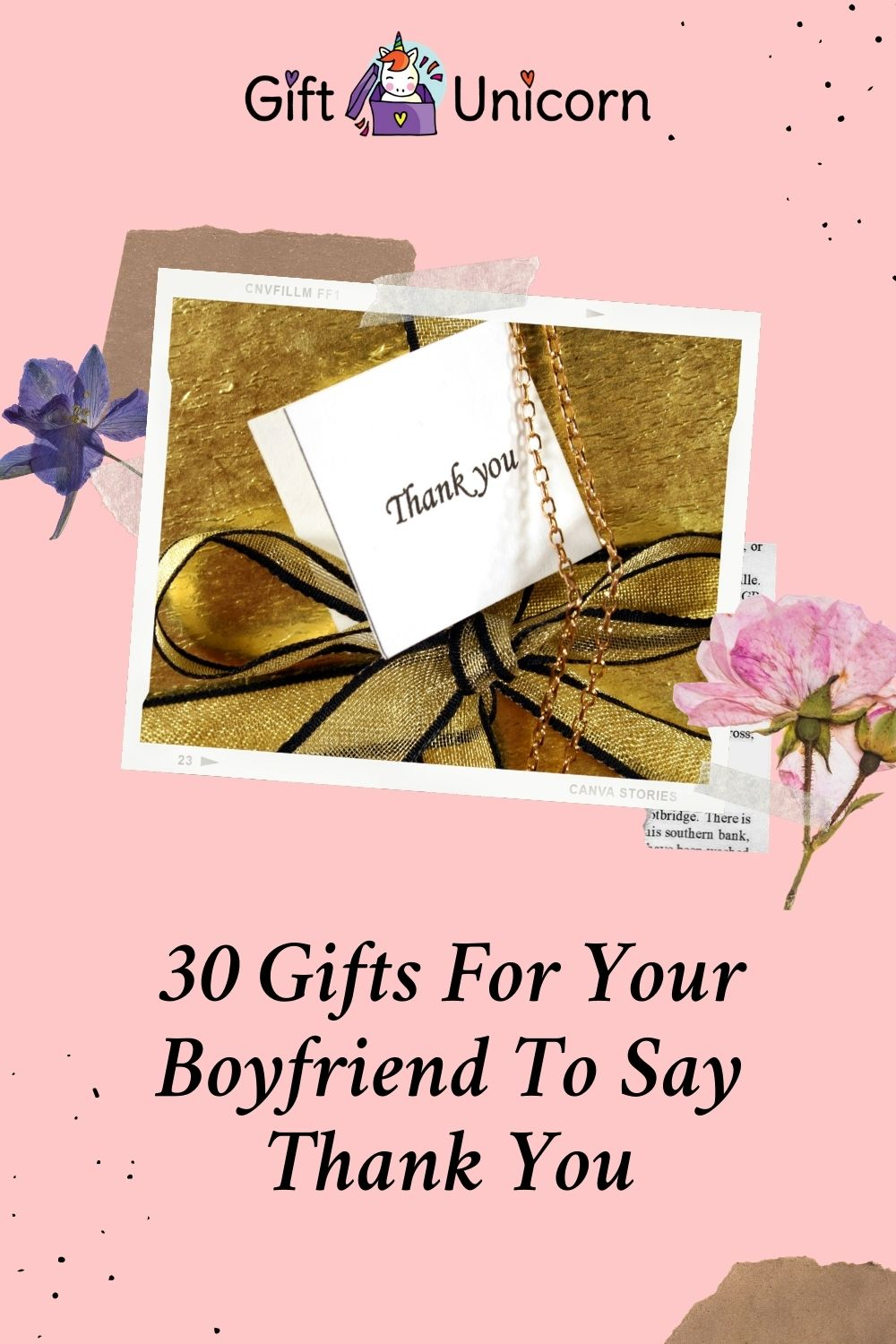 30 Gifts for your boyfriend to say thank you