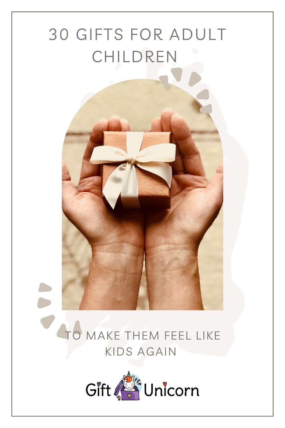 30 GIFTS for adult children pin image