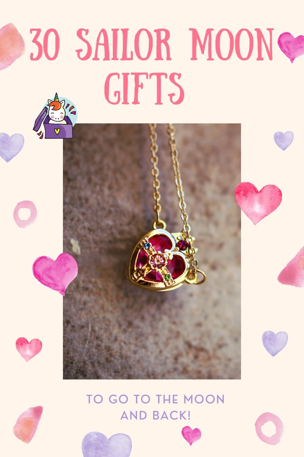 30 Sailor Moon Gifts To Go to the Moon and Back! - pinterest pin image