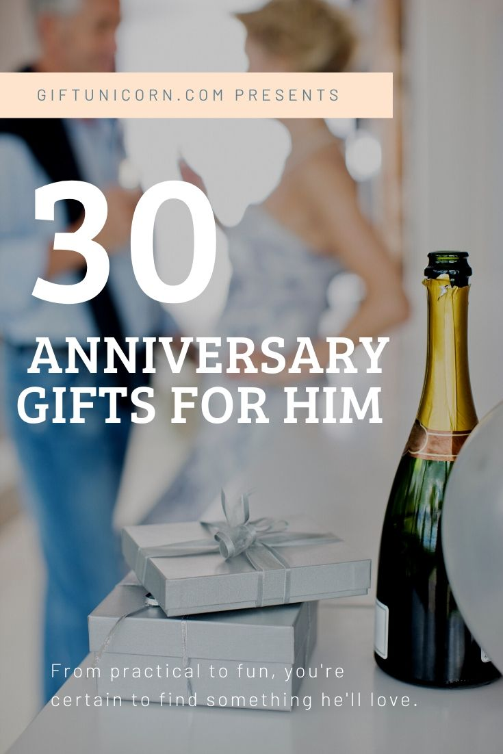 30 anniversary gifts for a man pin image