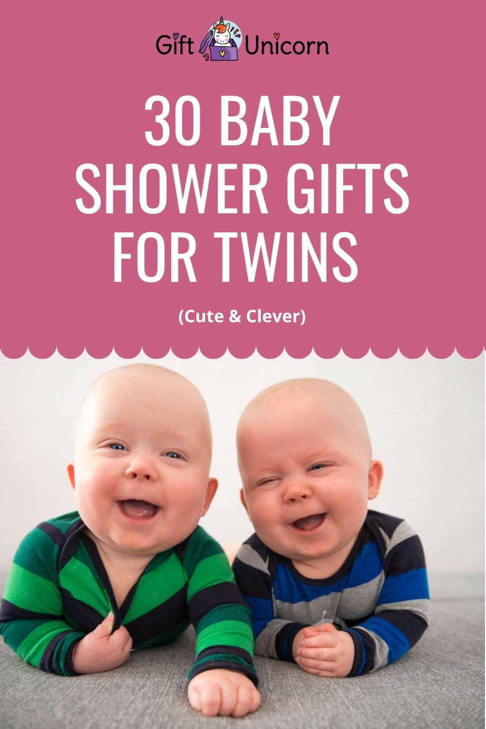 30 baby shower gifts for twins pin image