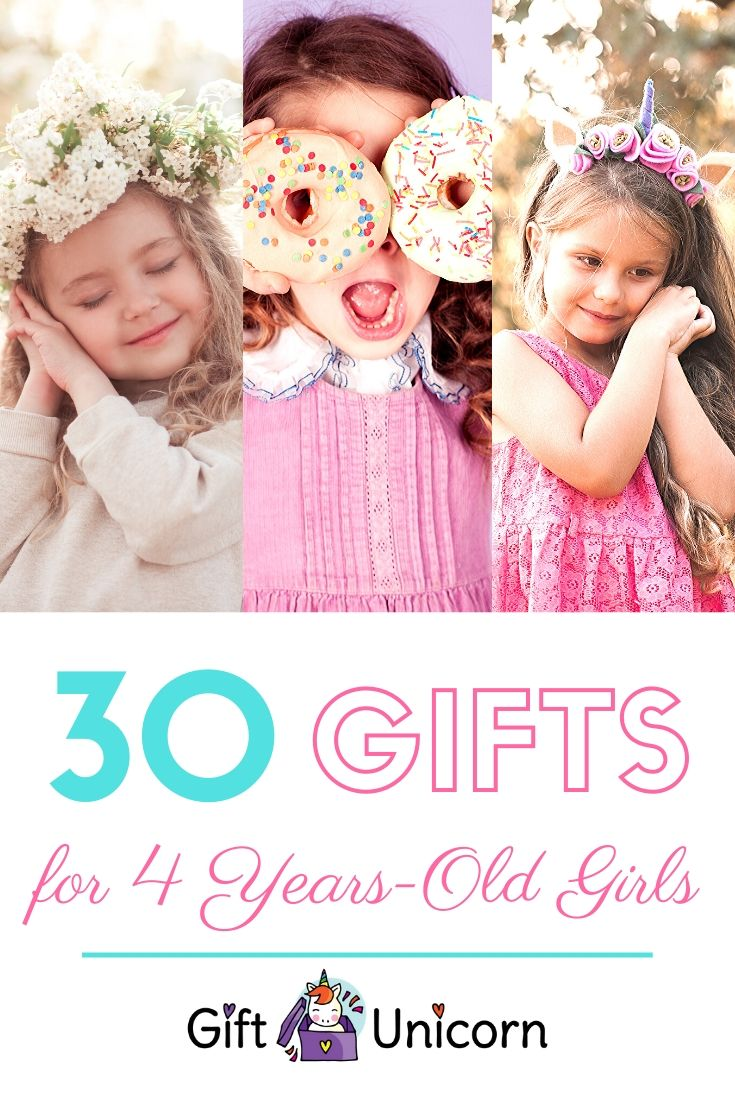 30 Gifts for a 4 years old girl pin image