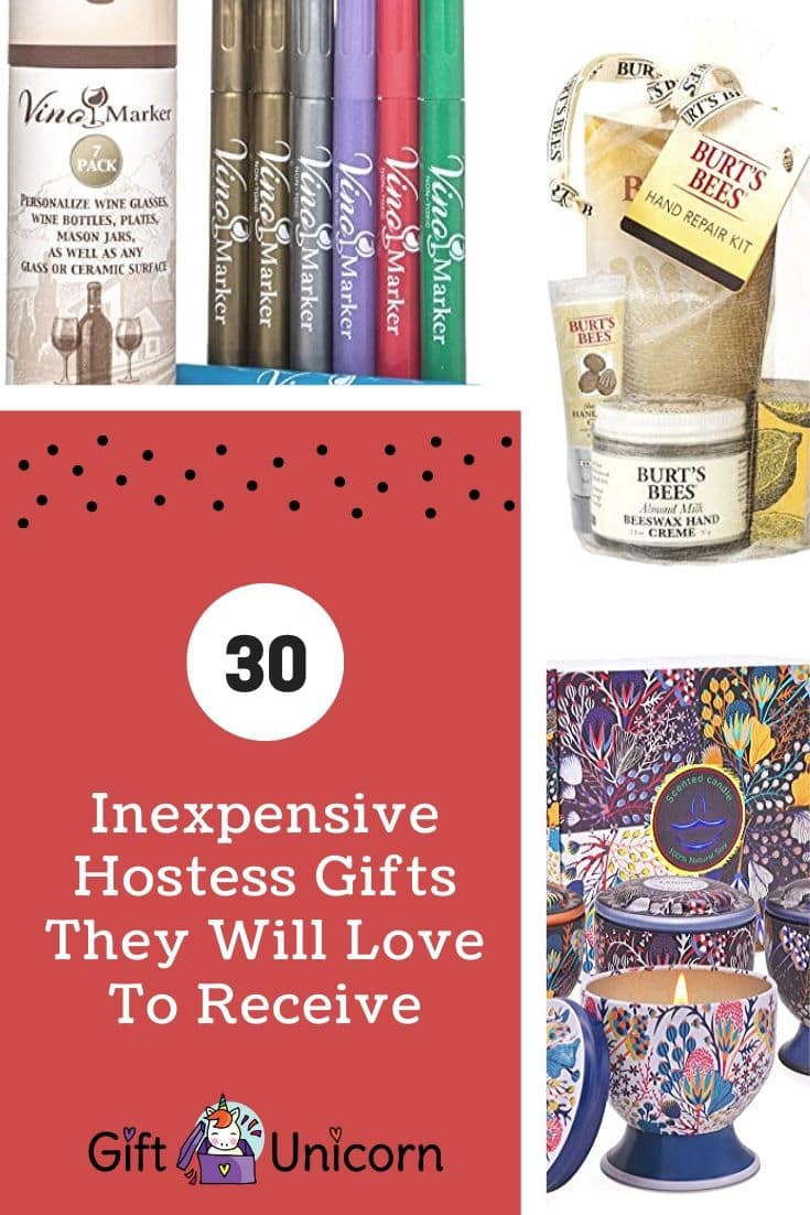 30 inexpensive hostess gifts pin image
