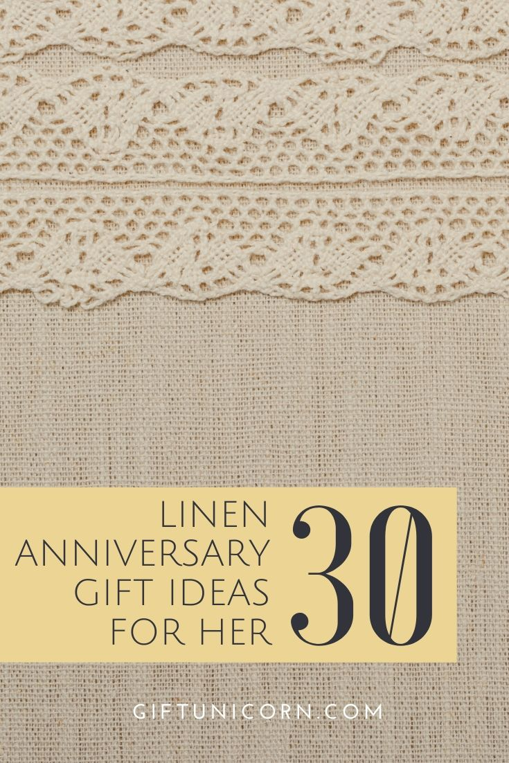 30 linen anniversary gifts for her pin image