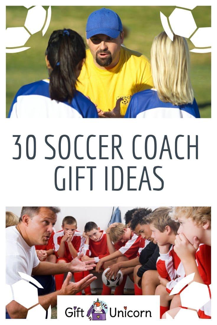 30 soccer coach gift ideas pin image