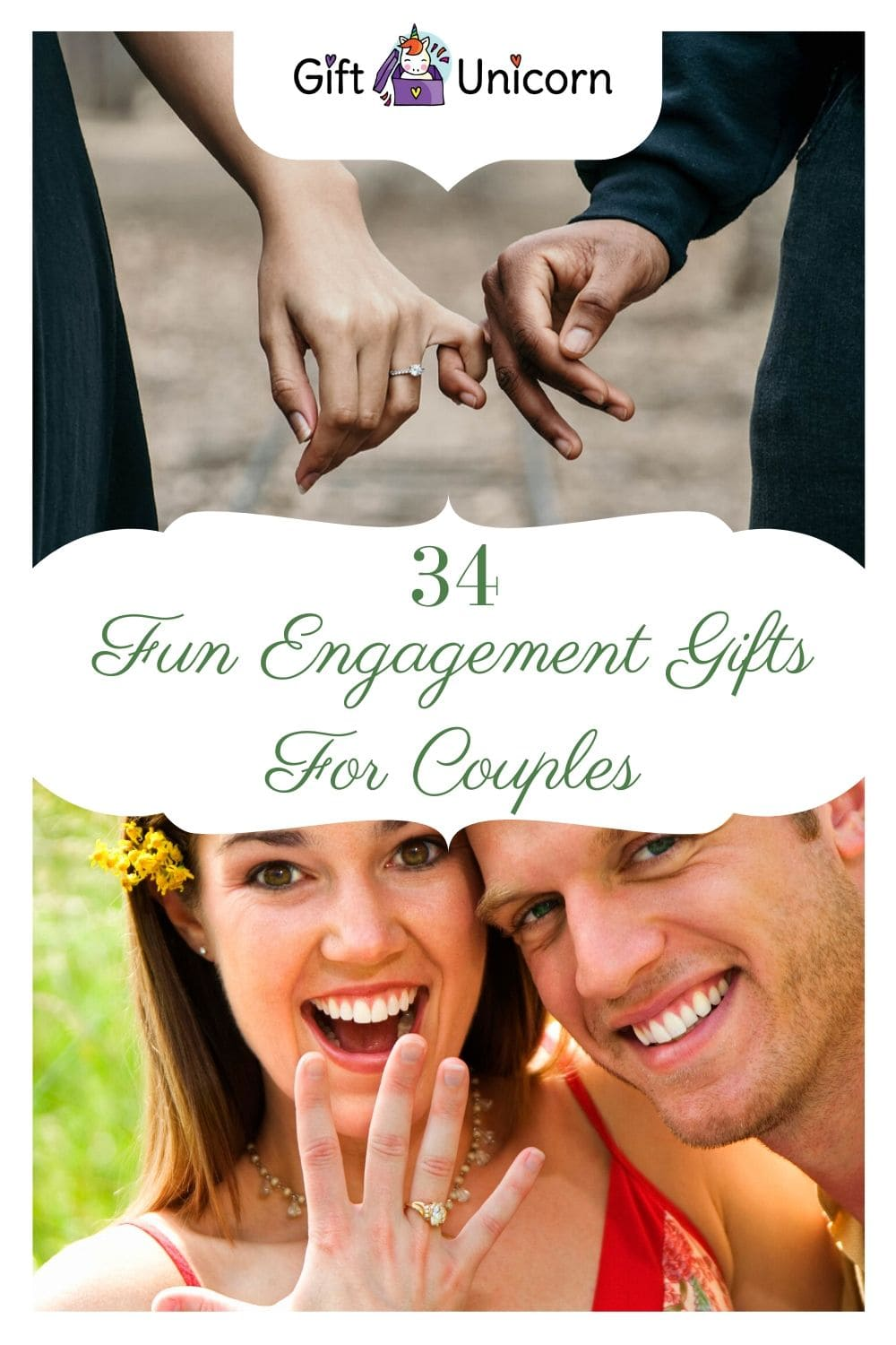 34 Fun engagement gifts for couples pin image