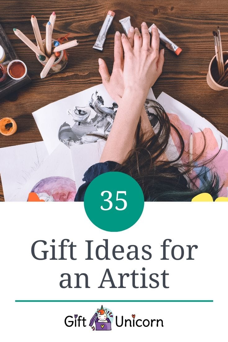 35 gift ideas for an artist pin image