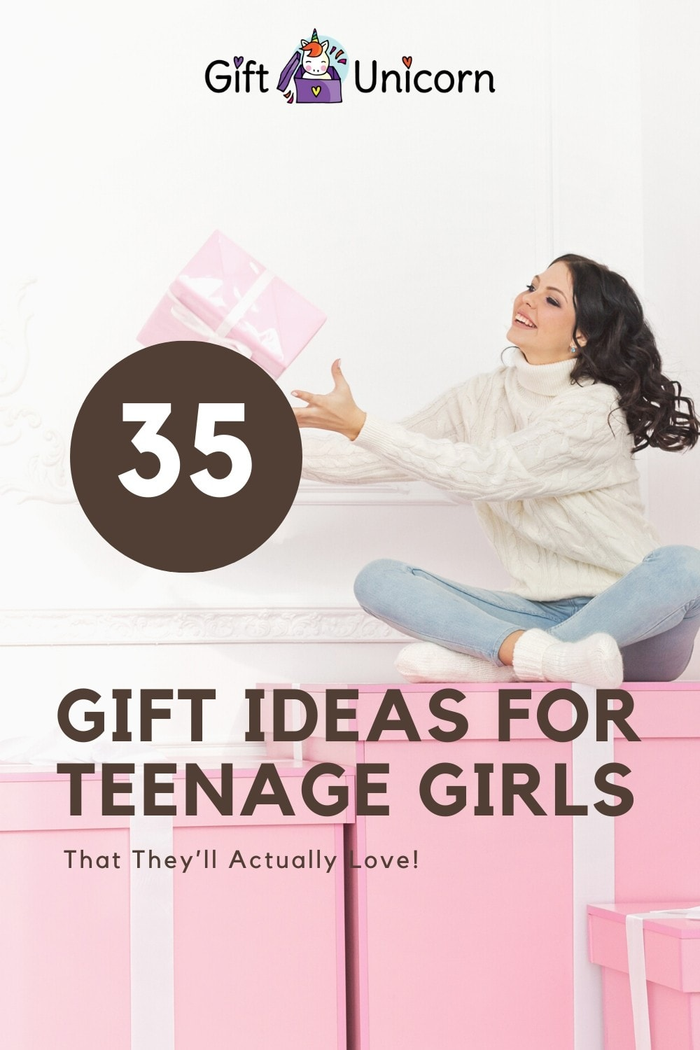 35 gifts for teenage girls pin image