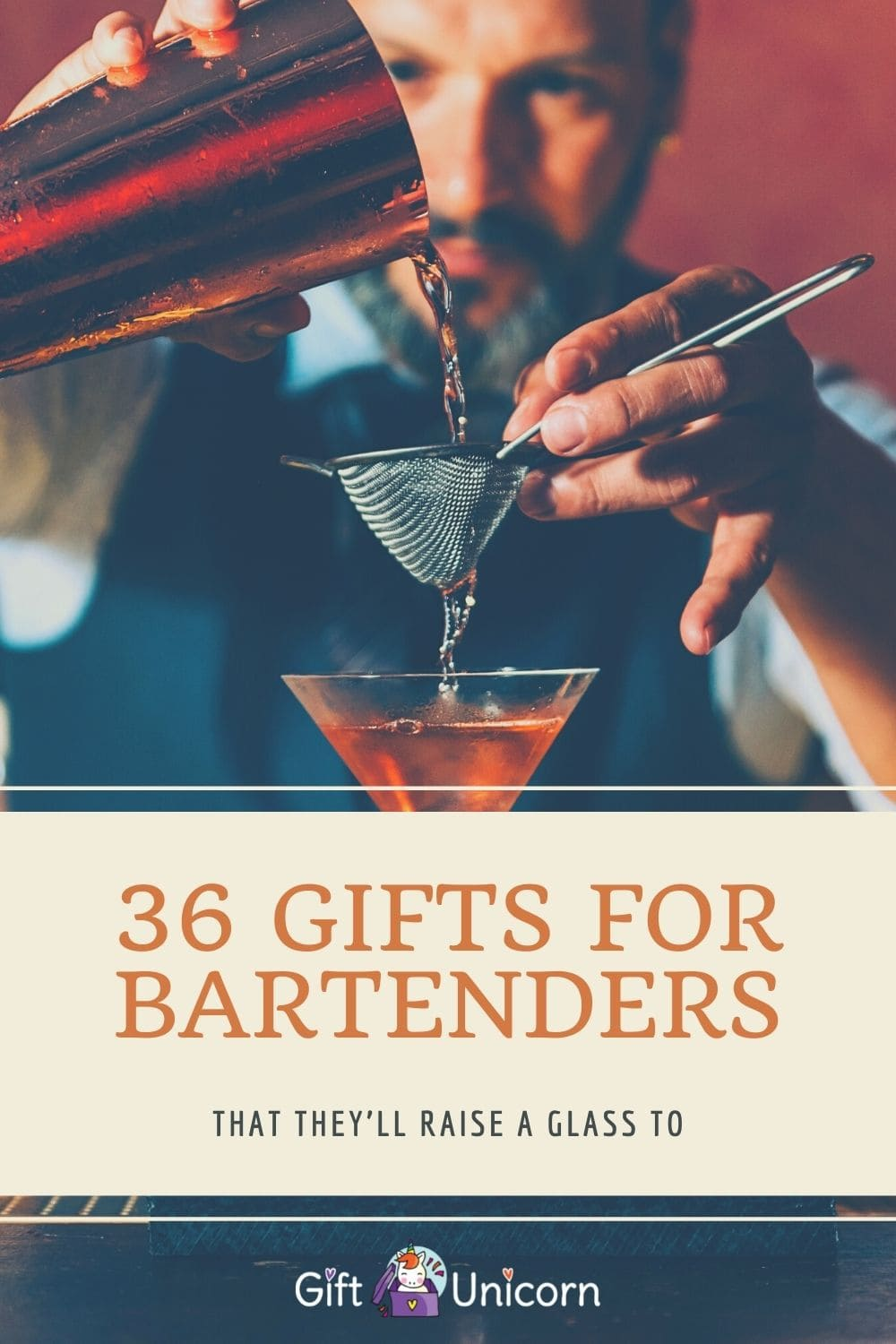36 Gifts for Bartenders That They'll Raise a Glass To - pinterest pin image