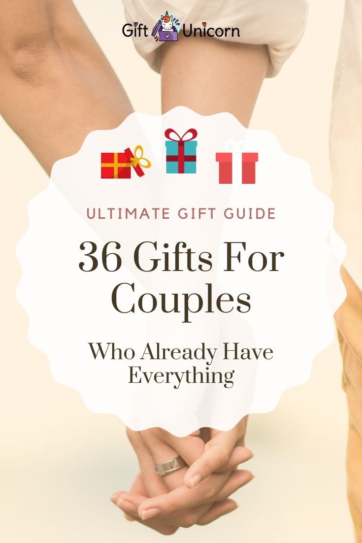 36 gifts for couples pin image