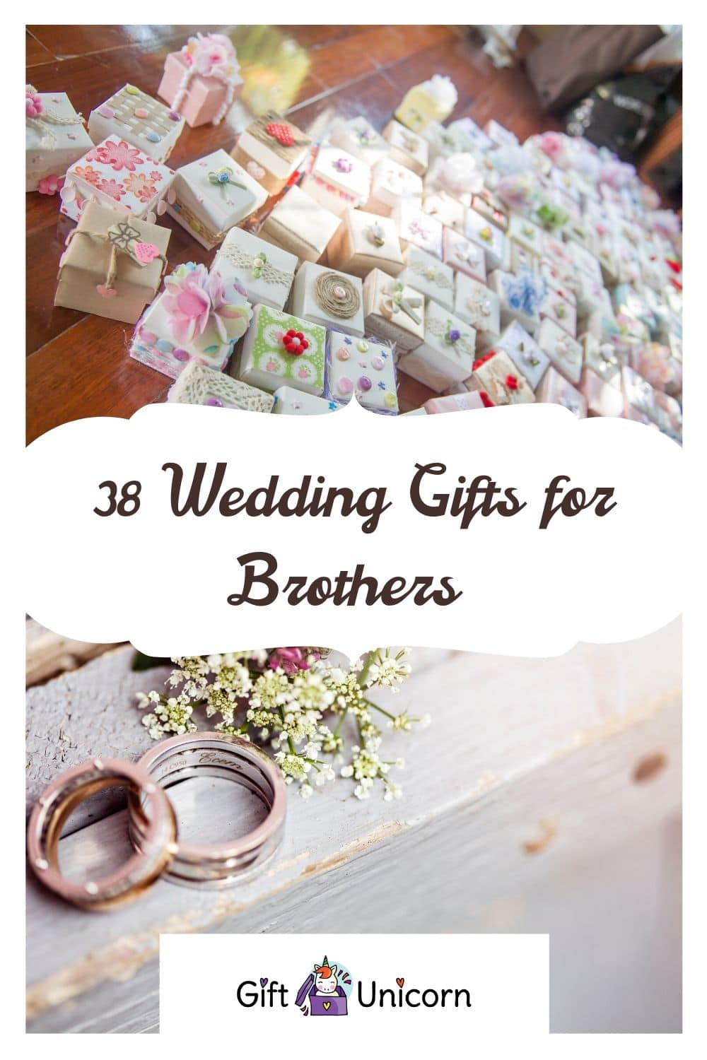 38 wedding gifts for brothers pin image