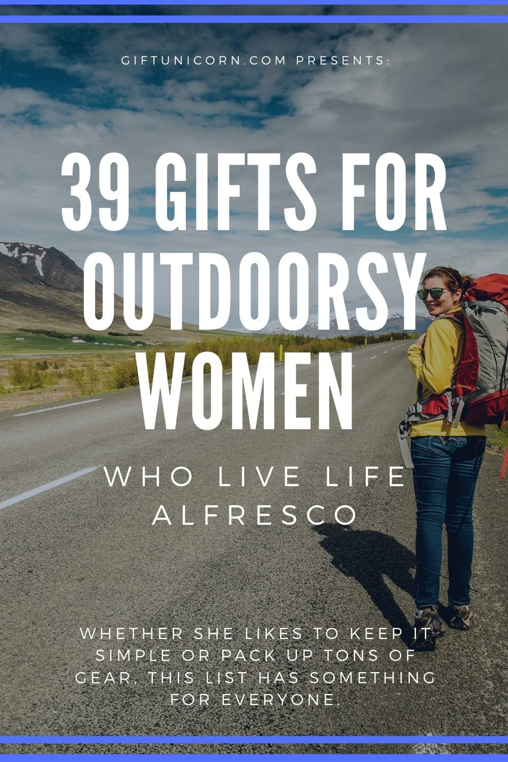 39 gifts for outdoorsy women pinterest pin image