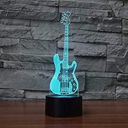 3D bass guitar led color lamp