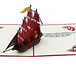 3D boat card with quote