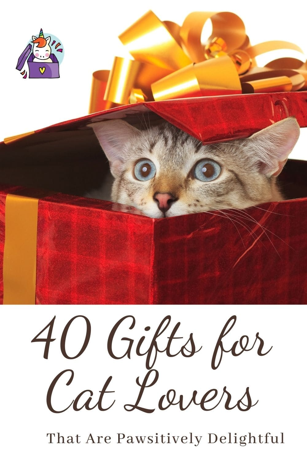 40 Gifts for Cat Lovers Pin image
