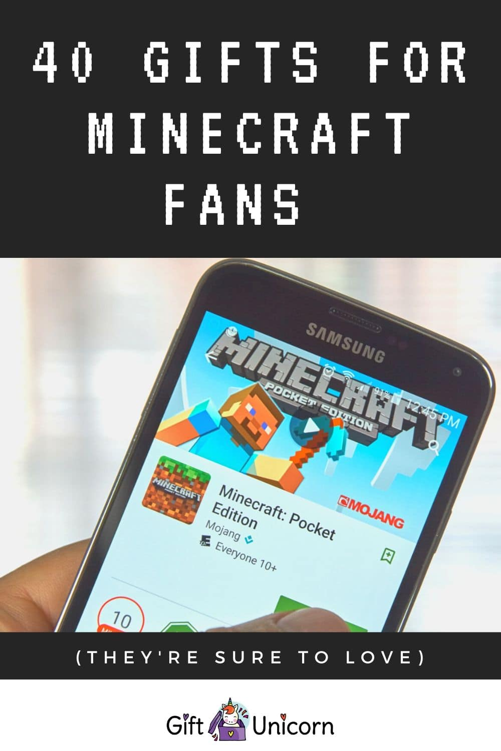 40 gifts for minecraft fans pinterest pin image