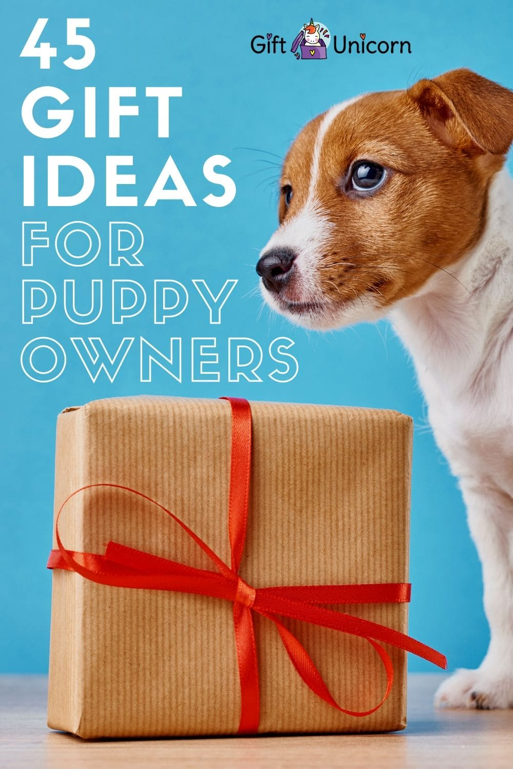 45 gift ideas for new puppy owners pin image