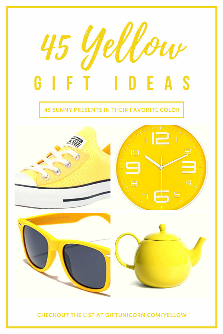45 Yellow gift ideas