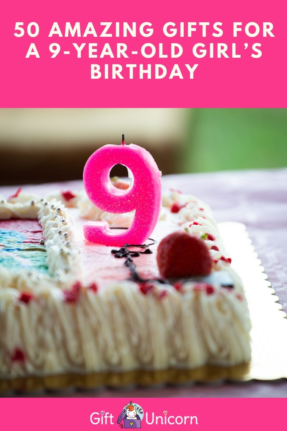 9 years old birthday gifts for a girl pinterest pin image