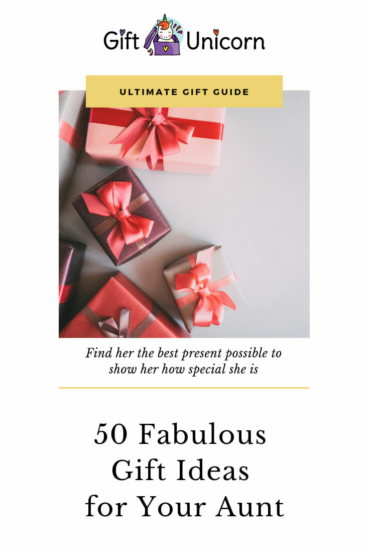 50 Fabulous gifts for your aunt