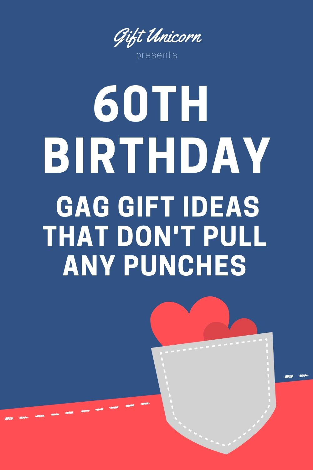 60th birthday gag gift ideas pin image
