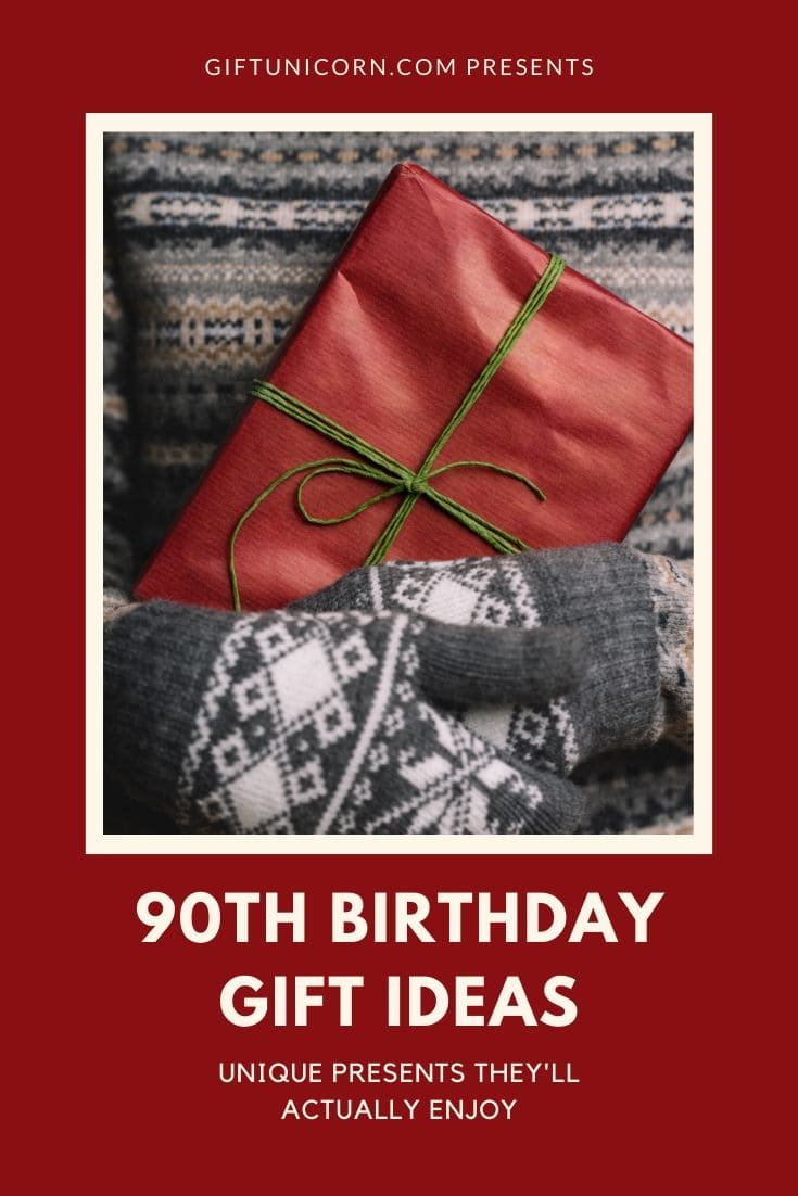 90th birthday gift ideas pin image