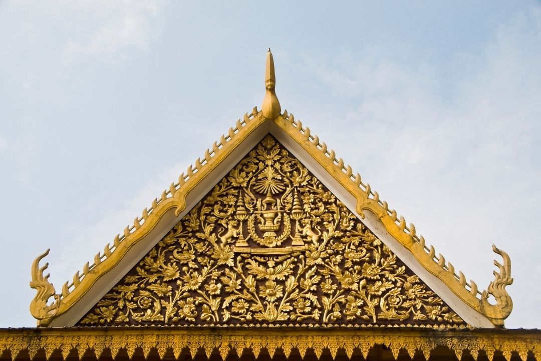 cambodian temple roof