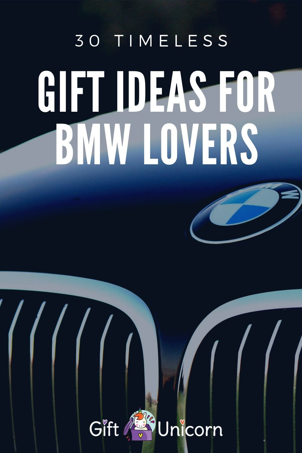 gift ideas for bmw lovers pin image