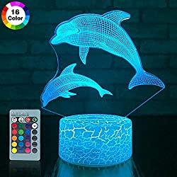 LED dolphin lamp