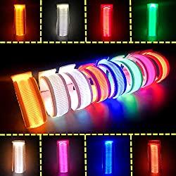 LED glow light bracelets
