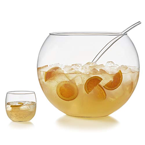 Punch bowl set with glasses
