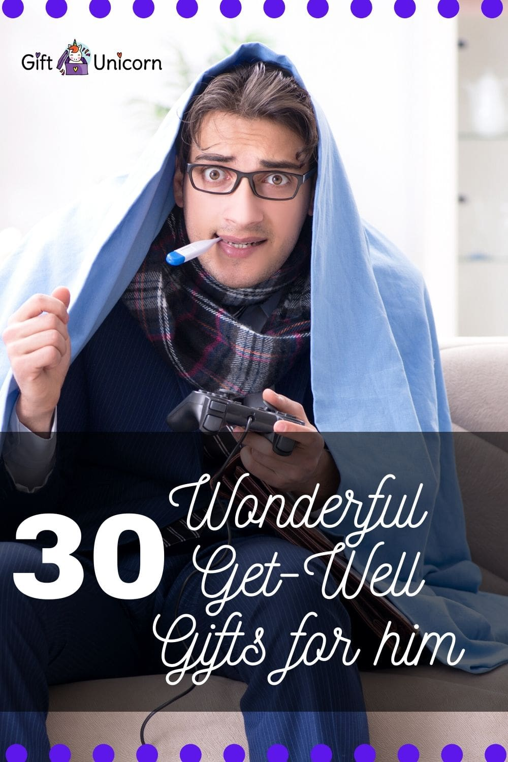 30 GET WELL Gift ideas for him pinterest pin image