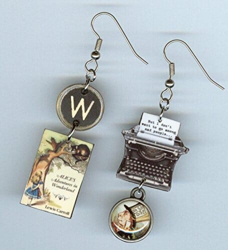 alice in wonderland themed earrings