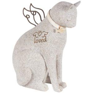 angel cat figurine