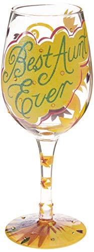 artisan painted wine glass