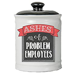 Ashes of problem employees jar