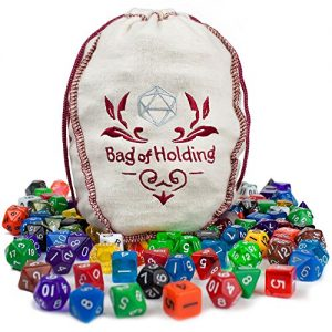 bag of holding collection of 140 polyhedral dice