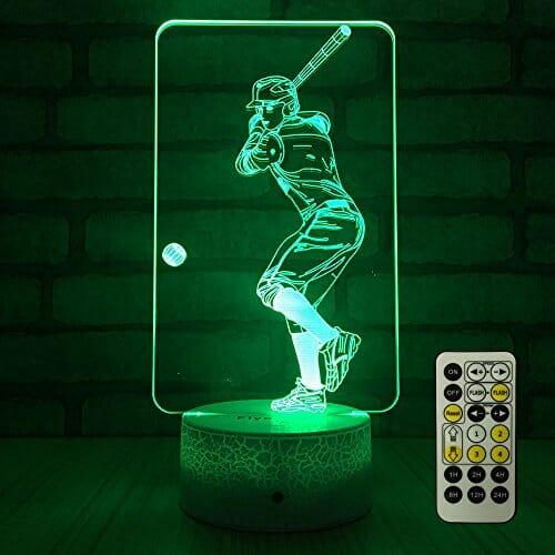 baseball themed bedroom lamp
